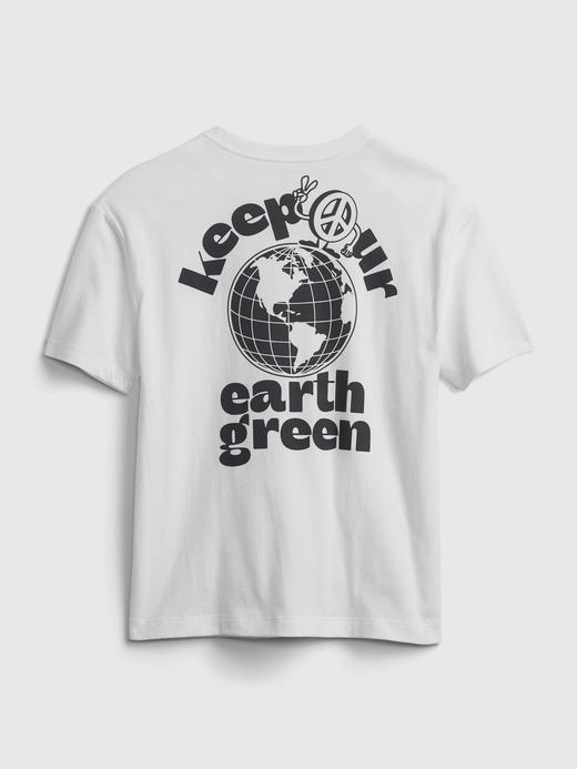 Erkek Çocuk Sarı Grafik Desenli T-Shirt