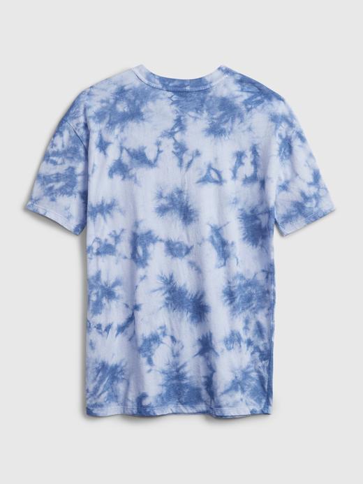 Kız Çocuk Mavi Tie-Dye T-Shirt