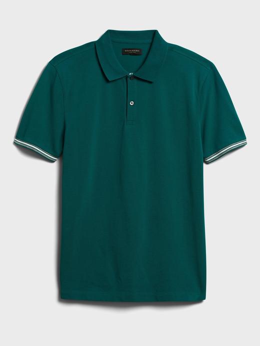 Erkek Yeşil Core Temp Pique Polo Yaka T-Shirt