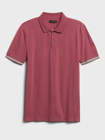 Erkek Pembe Core Temp Pique Polo Yaka T-Shirt