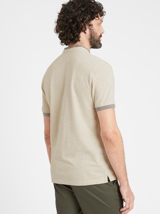Erkek Lacivert Core Temp Pique Polo Yaka T-Shirt