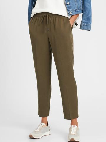 Kadın Yeşil TENCEL™ Slim Pantolon