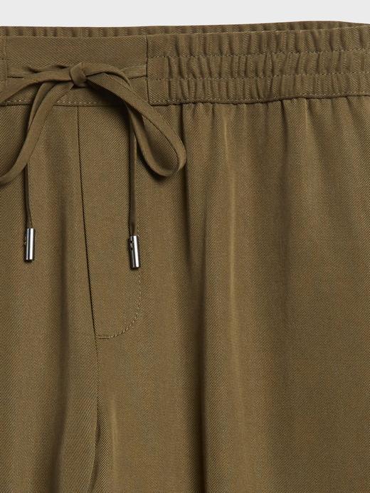 Kadın Kahverengi TENCEL™ Slim Pantolon