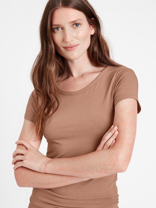 Kadın Bej Essential T-Shirt