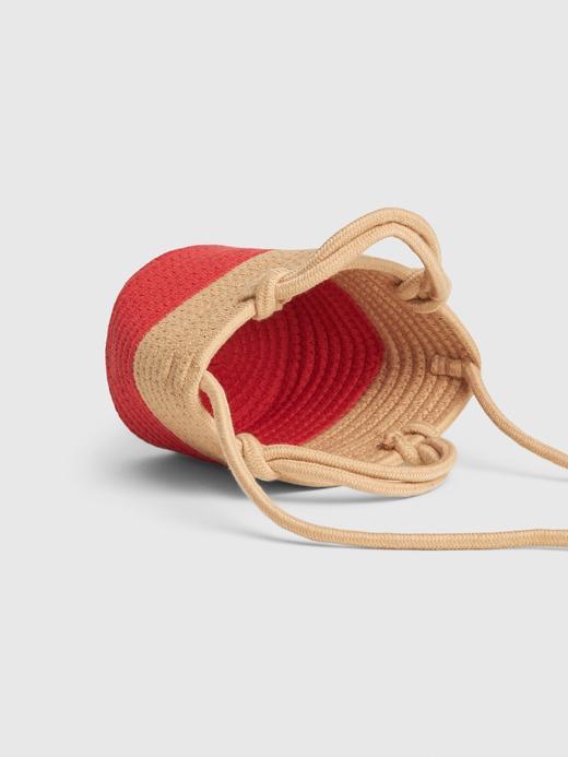 Kadın Bej Çapraz Askılı Mini Bucket Çanta