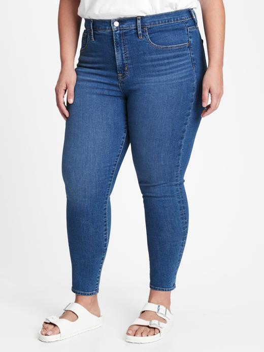 Kadın Lacivert High Rise True Skinny Jean