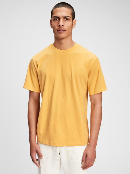 Erkek Sarı T-Shirt