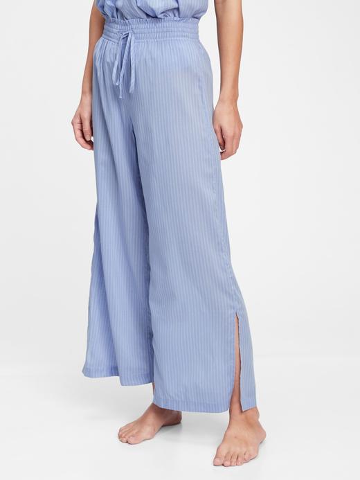 Kadın Mavi Desenli Pantolon