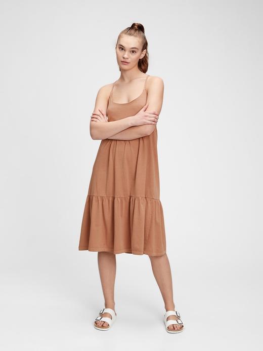 Kadın Turuncu Midi  Elbise