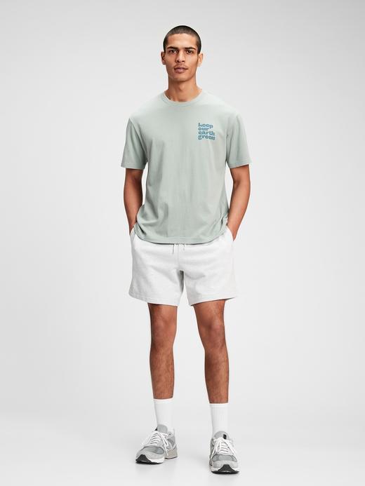 Erkek Yeşil Grafik Desenli T-Shirt