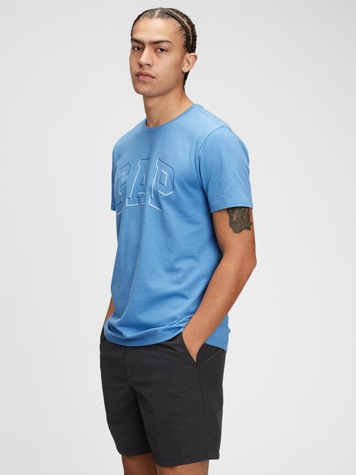 Erkek Mavi Gap Logo T-Shirt