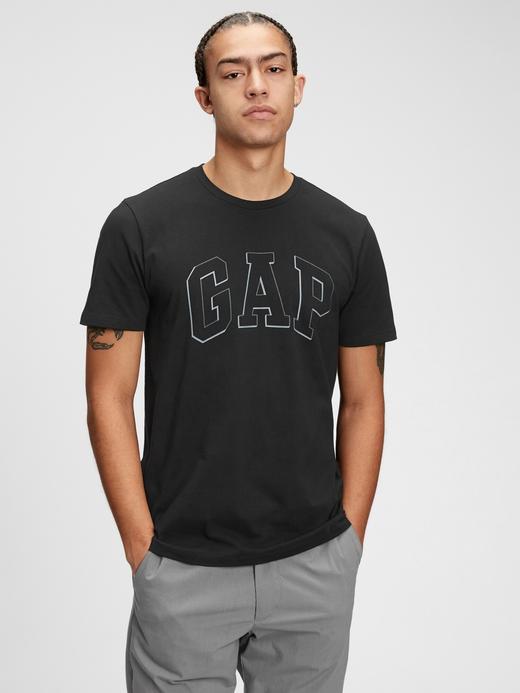 Erkek Siyah Gap Logo T-Shirt