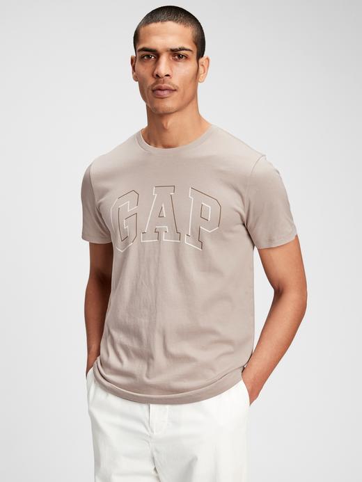 Erkek Bej Gap Logo T-Shirt