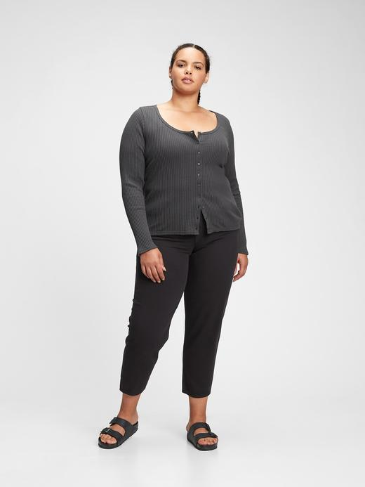 Kadın Pembe Düğme Detaylı T-Shirt