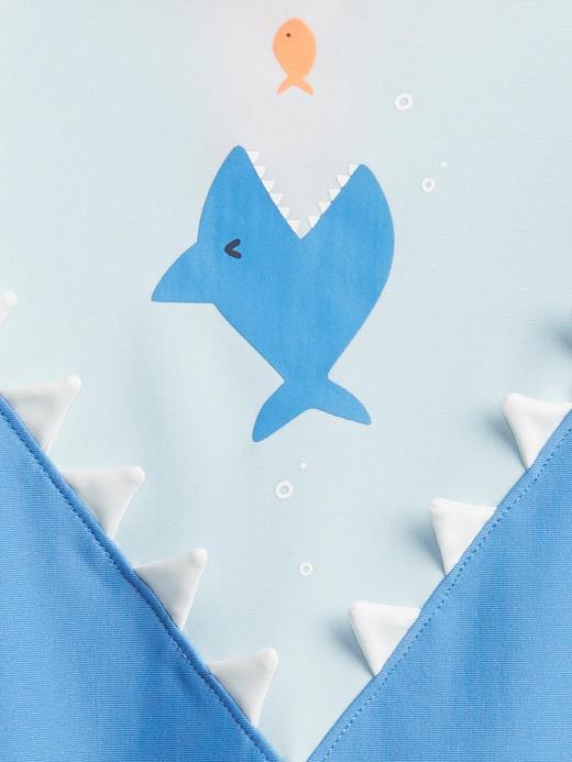 Erkek Bebek Mavi Slogan Basklılı Mayo