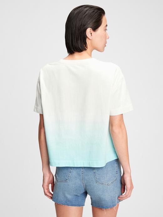 Kadın Turuncu Gap Logo Crop T-Shirt