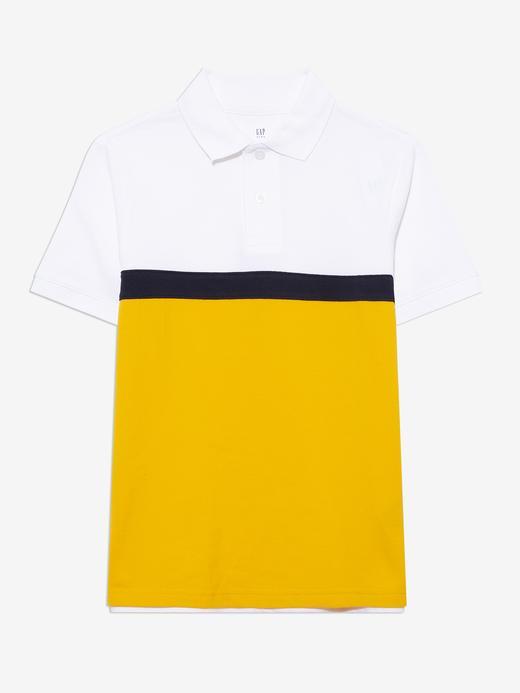 Erkek Çocuk Beyaz Grafik Desenli Polo  T-Shirt