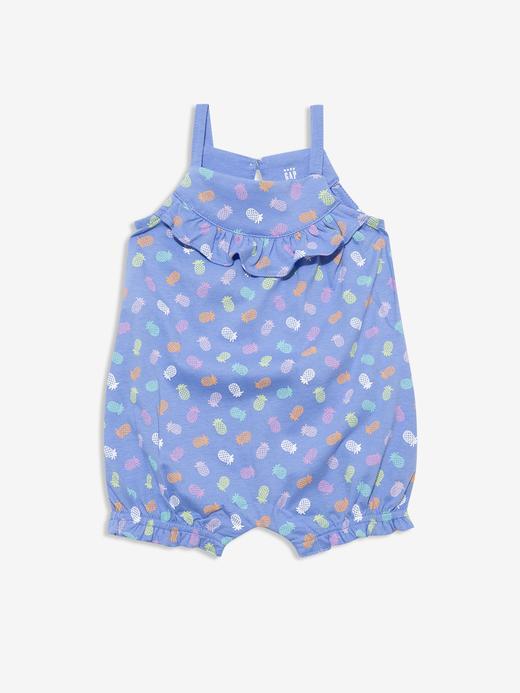 Kız Bebek Mavi Askılı Tulum