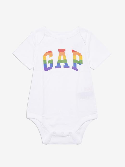 Erkek Bebek Beyaz Gap Logo Body