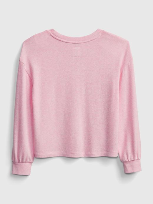 Kız Çocuk Mavi Geri Dönüştürülmüş Softspun T-Shirt