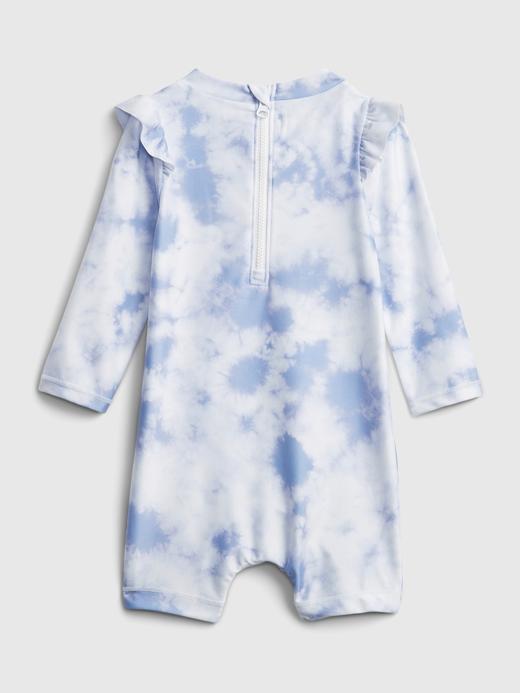 Kız Bebek Mavi Tie-Dye  Mayo