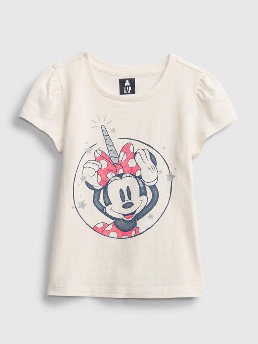Kız Bebek Pembe Organik Pamuklu  Disney Minnie Mouse Desenli T-Shirt