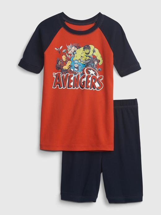 Erkek Çocuk Kırmızı Marvel Grafik %100 Organik Pijama Seti