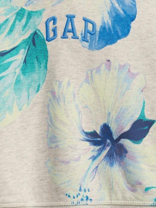 Erkek Bebek Bej Gap Logo Kapüşonlu Sweatshirt