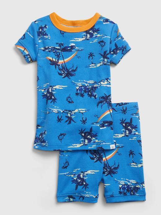Kız Bebek Mavi Organik Pamuklu Pijama Seti