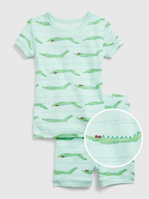 Kız Bebek Yeşil Organik Pamuklu Pijama Seti
