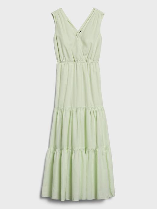 Kadın Yeşil TENCEL™ -Organik Pamuk Maxi Elbise