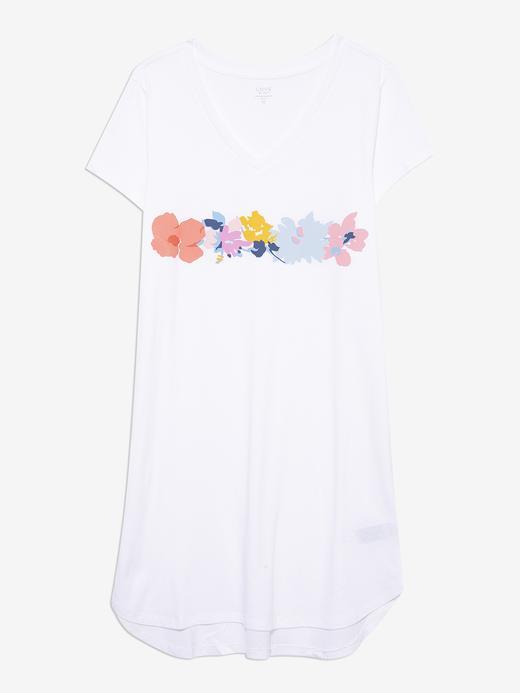 Kadın Beyaz Grafik Desenli T-Shirt