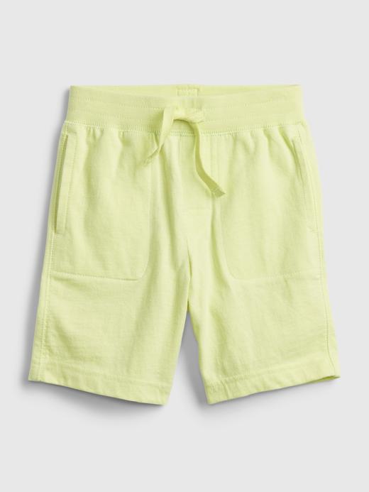 Erkek Bebek Sarı Organik Pamuklu Pull-On  Şort