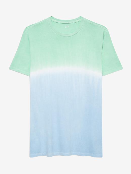 Erkek Mavi Tie-Dye T-Shirt