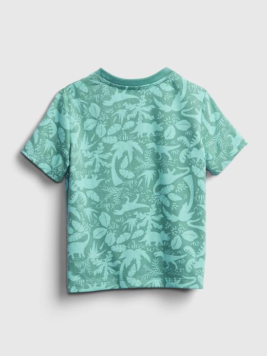 Erkek Bebek Yeşil Kısa Kollu Desenli T-Shirt