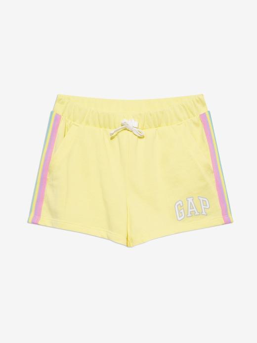 Kız Çocuk Sarı Gap Logo Şort