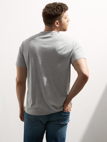 Erkek Gri Luxury Touch Performance T-Shirt
