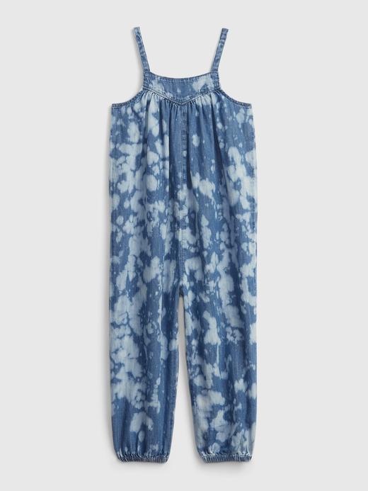Kız Bebek Mavi Tie-Dye Denim Tulum