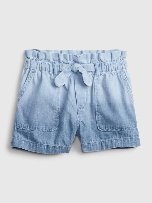 Kız Bebek Mavi Pull-On Denim Şort