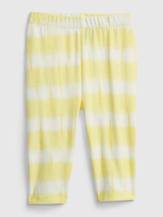 Kız Bebek Sarı Organik Pamuklu Legging Tayt