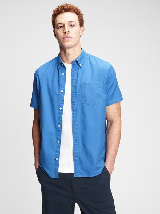 Erkek Mavi Oxford Gömlek