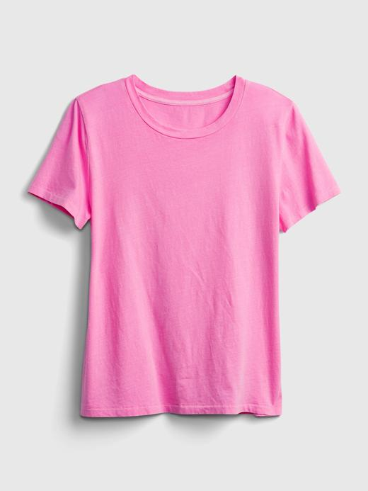 Kadın Yeşil Organik Pamuklu Vintage T-Shirt