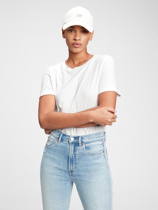 Kadın beyaz Organik Pamuklu Vintage T-Shirt