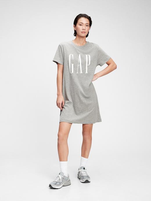 Kadın Gri T-Shirt Elbise