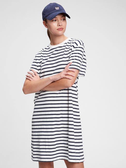 Kadın Lacivert T-Shirt Elbise