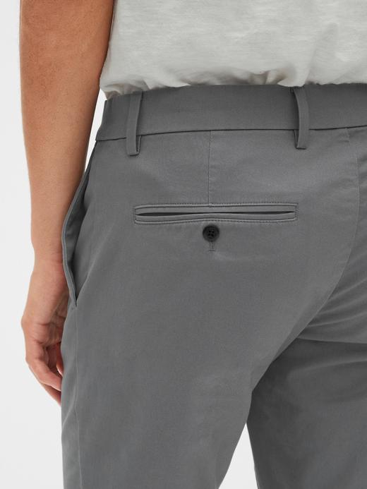 Erkek Siyah GapFlex Straight Fit Pantolon