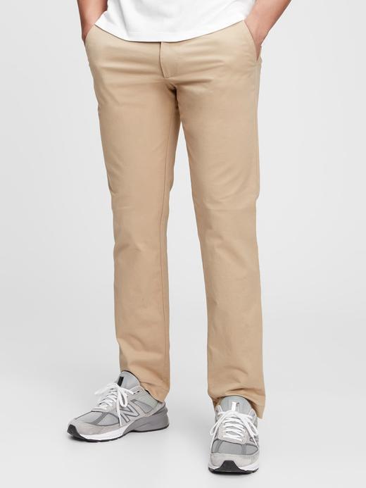 Erkek Kahverengi GapFlex Straight Fit Pantolon