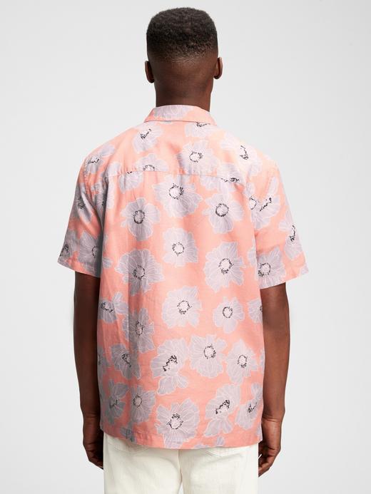 Erkek Lacivert Desenli Gömlek