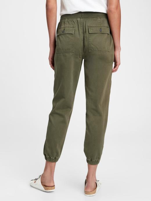 Kadın Yeşil Pull-On Jogger Pantolon