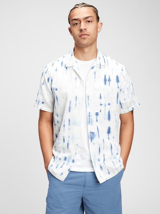 Erkek Beyaz Desenli Gömlek